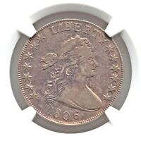 1806 NGC VF DETAILS  STK DRAPED BUST HALF DOLLAR TYPE COIN OVERTON DOUBLED T