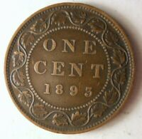 1893 CANADA CENT   HIGH QUALITY EARLY DATE COIN   STRONG VAL