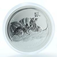 AUSTRALIA 15 DOLLARS YEAR OF MOUSE LUNAR 1/2 KG SILVER COIN
