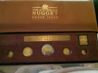 1992 AUSTRALIAN .999 GOLD & SILVER NUGGET 5 COIN PROOF SET 1