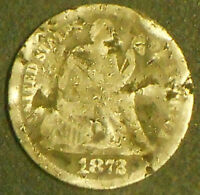 1872-P SILVER SEATED LIBERTY DIME.  SHIPS FREE