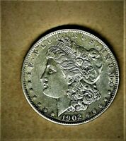1902-O MORGAN .900 SILVER DOLLAR,CH B.U. CONDITION W/EXCELLENT BREAST FEATHERS