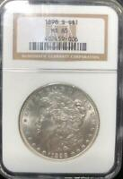 1898 S $1 MORGAN SILVER DOLLAR NGC MINT STATE 65