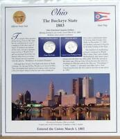 OHIO STATEHOOD QUARTERS P D 2002  POSTAL PANEL COLLECTION  F