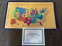 1999 2008 FIRST STATE QUARTERS OF THE US COLLECTOR'S MAP   C