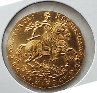 1963 AUSTRIA 1642 2 DUCAT RESTRIKE BOTH GOLD AND SILVER COINS UNCIRCULATED