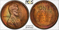 1909 VDB LINCOLN CENT  PCGS MINT STATE 64 RB  PLUS GRADE  TONED  TRUEVIEW