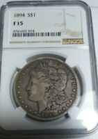1894 P MORGAN SILVER DOLLAR NGC F-15  -MAJOR KEY DATE  -PHILLY MINT