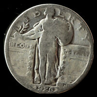1926-P STANDING LIBERTY 90 SILVER QUARTER SHIPS FREE. BUY 5 FOR $2 OFF