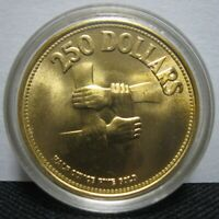 1975 SINGAPORE 250 DOLLARS GOLD 1/2 OZ ALL ORIGINAL PACKAGING WELL PRESERVED