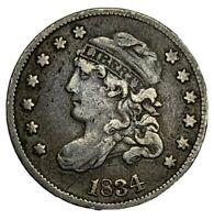 1834 CAPPED BUST HALF DIME  VF