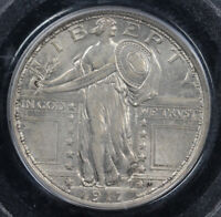 1917 25C TYPE 1 STANDING LIBERTY QUARTER PCGS MINT STATE 62 FH