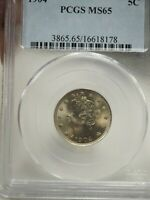 1904 5C LIBERTY HEAD V NICKEL US COIN MINT STATE 65 PCGS  8178