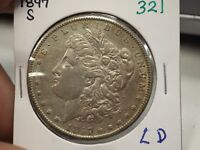 1897 S MORGAN SILVER DOLLAR  321