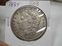 1884 $1 MORGAN SILVER DOLLAR  568