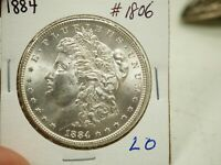 1884 $1 MORGAN SILVER DOLLAR  1806