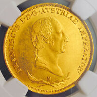 Click now to see the BUY IT NOW Price! 1831 LOMBARDY VENETIA  KINGDOM  FRANCIS I. GOLD SOVRANO COIN. GEM  NGC MS 64