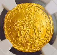 Click now to see the BUY IT NOW Price! 1734 SALZBURG LEOPOLD ANTON FREIHERR VON FIRMIAN. GOLD DUCAT COIN. NGC MS 64