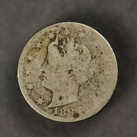 1883 5C LIBERTY V NICKEL - WITH CENTS LOTF803NC