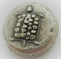 ANCIENT GREEK AR SILVER STATER COIN AEGINA TURTLE 11.45GRAMS