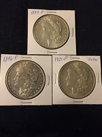SUPER COINS1884 P,1896 P,1921 P MORGAN SILVER DOLLAR.GET THESE TODAY