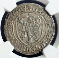 1412 SAXONY MARGRAVIATE OF MEISSEN. NICE SILVER SHIELD GROSSUS COIN. NGC AU53