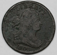 1803 1/2C DRAPED BUST HALF CENT UNSLABBED