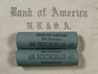 ONE  BOA SF BUFFALO NICKEL ROLL 40 COINS   1913 1938 P D S