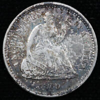 1860-O H10C SEATED LIBERTY HALF DIME UNSLABBED