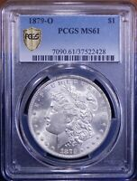 1879-O MORGAN DOLLAR PCGS MINT STATE 61  SILVER COIN