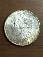 1878 - P PHILADELPHIA MINT $1 SILVER MORGAN DOLLAR REVERSE OF 1878