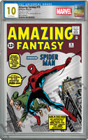 MARVEL   AMAZING FANTASY 15   SILVER FOIL   CGC 10 GEM MINT FIRST RELEASES 888