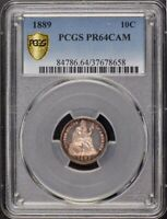 1889 10C SEATED LIBERTY DIME PCGS PR64CAM