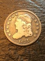 CAPPED BUST HALF DIME, 1831   CW8-19