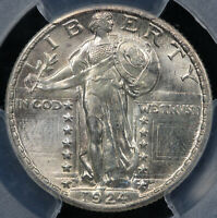 1924-S 25C STANDING LIBERTY QUARTER PCGS SECURE SHIELD MINT STATE 66