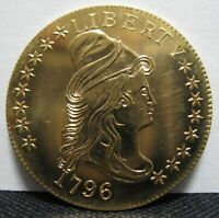 GALLERY MINT MUSEUM COPY 1796 $10 EAGLE GOLD DRAPED BUST TYPE 1