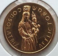 1966 LUXEMBOURG 40 FRANCS GOLD   300TH ANNIVERSARY PATRON SAINT VIRGIN MARY
