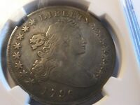1796 SMALL EAGLE DRAPED BUST  DOLLAR / NGC VF