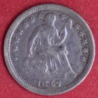 1849 SEATED LIBERTY DOUBLED DATE AU