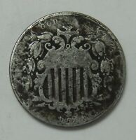 1867 SHIELD NICKEL WITH RAYS  5 FIVE CENT COIN