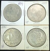 1878-1904 MORGAN SILVER DOLLARS VG-EXTRA FINE  MIX DATES 1 ROLL LOT OF 20 PRICE REDUCED