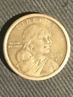 VERY   CHEERIOS 2000 P SACAGAWEA DOLLAR COIN SELLING BETWEEN 1600$ AND 1900$
