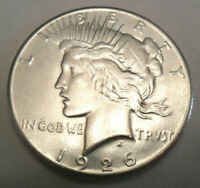 1926 P PEACE DOLLAR 90 SILVER   AU - ABOUT UNCIRCULATED