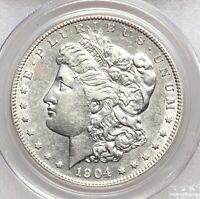 1904-S PCGS AU50 MORGAN SILVER DOLLAR TOUGH BETTER DATE ABT UNCIRCULATED
