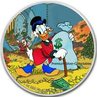 2018 NIUE DISNEY SCROOGE MCDUCK     1 OUNCE PURE SILVER .999