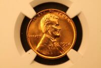 1954-S LINCOLN WHEAT COPPER 1C MINT STATE 66 RD RED NGC 4857149-051