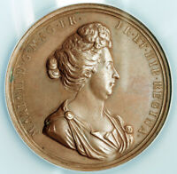 1690 GREAT BRITAIN QUEEN MARY  AS REGENT . LARGE BRONZE MEDAL. NGC MS 62