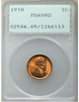 1918   PCGS MS65 RD RED