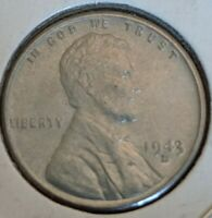 1943 D BRILLIANT UNCIRCULATED LINCOLN CENT.  COIN
