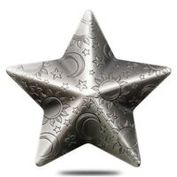 2018 1 OZ PALAU TWINKLING STAR CHARMS HIGH RELIEF ANTIQUED S